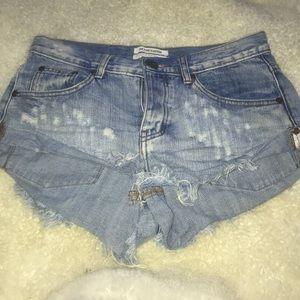 Teaspoon bandit denim shorts